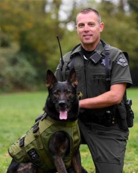 Jason Nyhus, Whatcom County Sheriff's Deputy, Master Trainer WA State Police Canine Association
